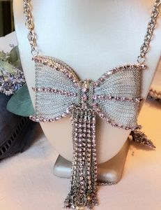 NWT Betsey Johnson Not Your Babe Bow Necklace